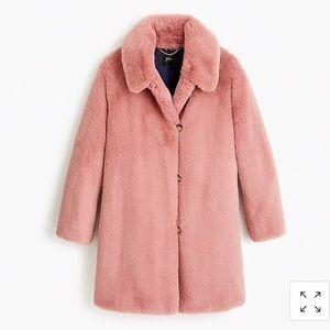 NWT🎉HP🎉J.Crew Faux Fur Coat